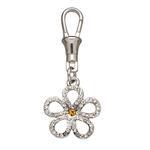 Unity Collar Charm by Doggles - Open Clear Flower