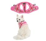 View Image 2 of Uptown Dog Harness by Puppia - Pink
