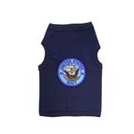View Image 1 of U.S. Navy Crest Dog Tank Top - Navy Blue