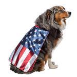 View Image 2 of USA Flag Cape Dog Costume by Rasta Imposta