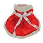 View Image 3 of Velvet Santa Girl Dog Dress w/ Hat & Leash