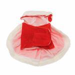 View Image 2 of Velvet Santa Girl Dog Dress w/ Hat & Leash