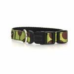 View Image 2 of WaLk-e-Woo Brown Dot on Moss Green Dog Collars