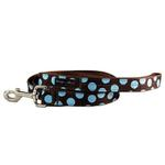 WaLk-e-Woo Blue Dot on Brown Dog Leash