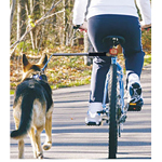 View Image 1 of WalkyDog Stainless Steel Bike Leash