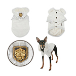 View Image 2 of Warm Snow Bunny Dog Coat by Puppia - Silver