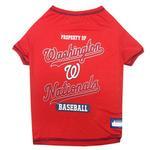 Washington Nationals Dog T-Shirt - Red