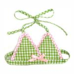 View Image 1 of Watermelon Dog Bikini Top - Green & Pink