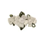 View Image 1 of Wedding Petal Flowers Dog Barrette - White