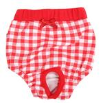 View Image 1 of Witty Dog Sanitary Pants by Puppia - Red
