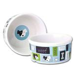 View Image 1 of Woof Flair Dog Bowl - Blue