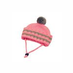 View Image 1 of Worthy Dog Ribbed Winter Dog Hat - Pink