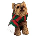 View Image 1 of Yorkshire Terrier Christmas Ornament - Green and Red Scarf