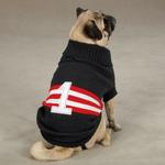 View Image 3 of Zack & Zoey Collegiate Dog Sweater - Black