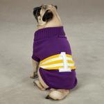 View Image 1 of Zack & Zoey Collegiate Dog Sweater - Purple