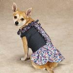View Image 2 of Zack & Zoey Denim Floral Dog Dress