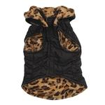 View Image 3 of Zack & Zoey Gold Print Reversible Leopard Vest - Black