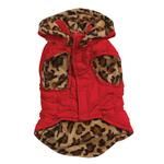 View Image 1 of Zack & Zoey Gold Print Reversible Leopard Vest - Red