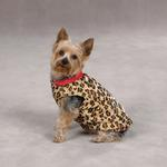 View Image 2 of Zack & Zoey Gold Print Reversible Leopard Vest - Red