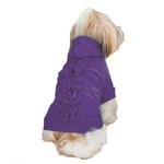 View Image 1 of Zack & Zoey Lucy Ruffle Dog Hoodie - Ultra Violet