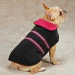View Image 2 of Zack & Zoey Reflective Thermal Dog Jacket - Raspberry