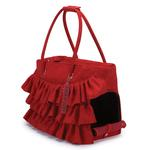 View Image 2 of Zack & Zoey Ruffle Pet Carrier - Red