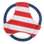 View Image 1 of Zanies All Paws on Deck Flyer Dog Toy - Red