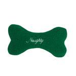 View Image 2 of Zanies Naughty & Nice Berber Bone Toy - Green