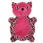 View Image 1 of Zanies Vibrant Leopard Cat Dog Toy - Raspberry