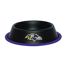 Baltimore Ravens Dog Bowl Dog Bowl - Black