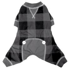 FouFou Buffalo Plaid Dog Pajamas - Gray
