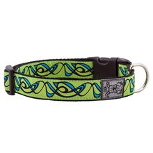 Sorbet Smoke Adjustable Clip Dog Collar - Green