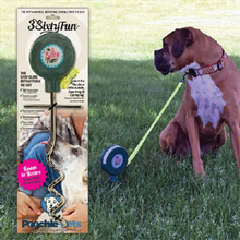 3SixtyFun Easy Glide Retractable Dog Tie Out for Small Breeds