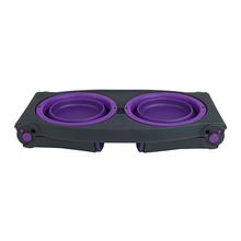 Adjustable Pet Feeder by Popware - Purple