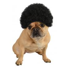 Afro Wig Dog Costume - Black