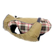 Alpine All Weather Dog Coat - Beige Plaid
