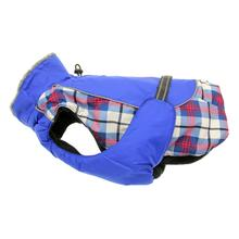 Alpine All-Weather Dog Coats - Royal Blue Plaid