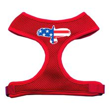 American Flag Eagle Dog Harness - Red