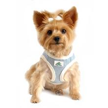 American River Choke Free Dog Harness - Washed Blue Jean and Cream Minky Fur