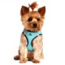 American River Top Stitch Dog Harness - Aruba Blue