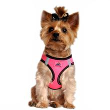 American River Top Stitch Dog Harness - Iridescent Pink