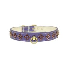 Amethyst Crystal Diamond Dog Collar - Purple