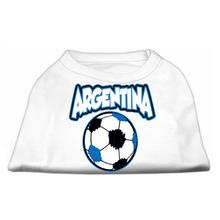 Argentina Soccer Print Dog Shirt - White
