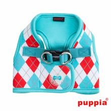 Argyle Dog Harness Vest by Puppia - Aqua