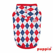 Argyle Hooded Dog Shirt by Puppia - Red