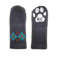 Argyle PAWKS Dog Socks - Slate