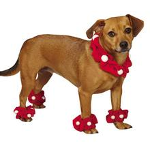 Aria Santa Dog Scrunchy Set