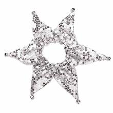 Aria Shimmer Sequin Dog Scrunchy - Silver