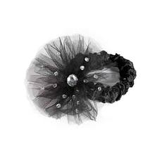 Aria Starburst Dog Scrunchy - Black