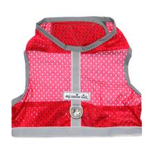 Athletic Mesh Dog Vest Harness - Red